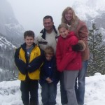 Team Healy in the mountains